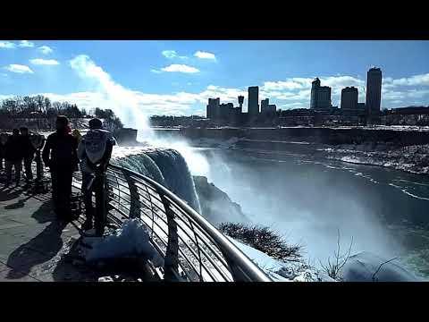 Niagara Falls Bridal falls Horseshoe Falls Best Overlooks Awesome Unique Closeup Compilation