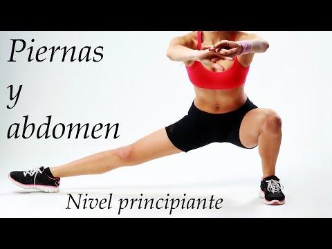 Ejercicios para piernas y abdomen para principiantes en casa