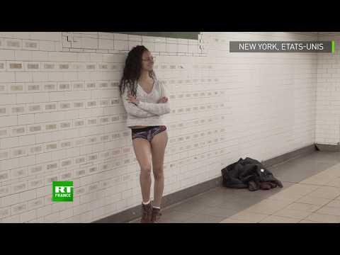 Les New Yorkais se déshabillent dans le métro pour «No Pants Subway Ride»