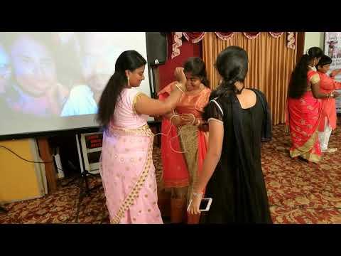Chennai Anchor Lambo Kanna & Rupa Conducted Rope Game On Sangeet At Quality Inn Sabari