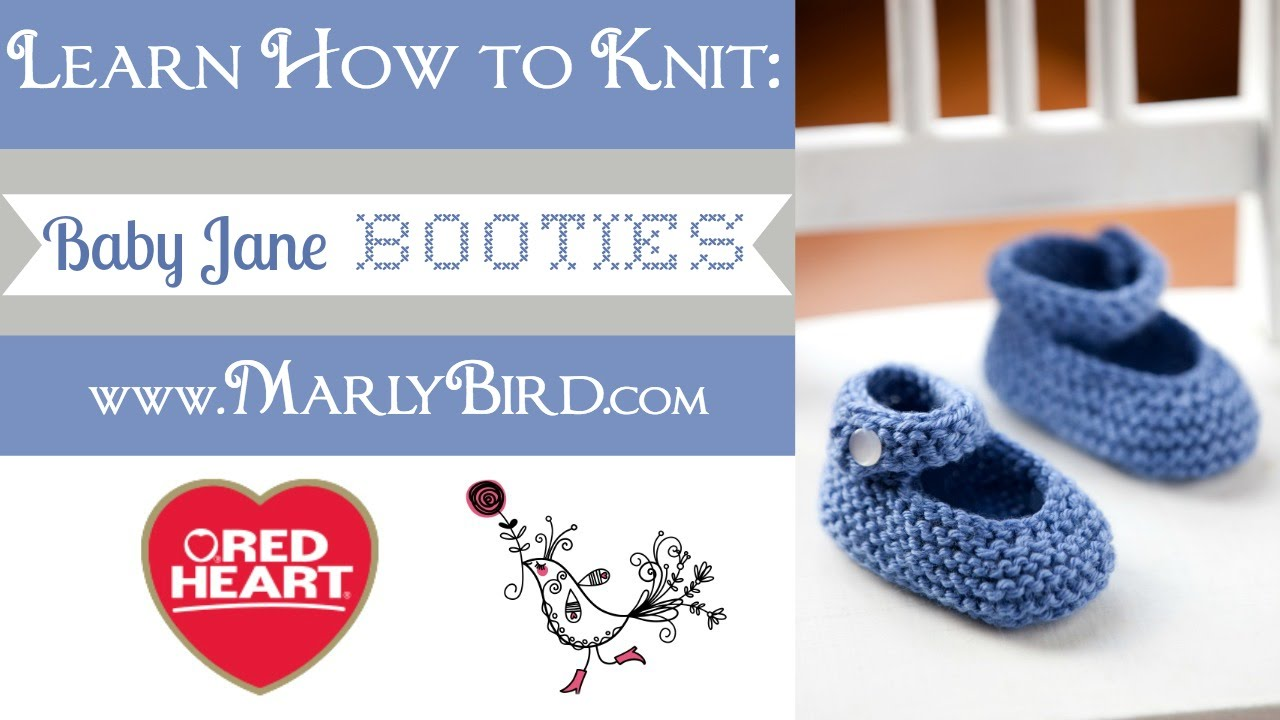 Learn How to Knit Baby Jane Booties - YouTube
