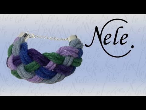 Flechten für Anfänger, flechten mit 5 Fäden, DIY Anleitung by Nele C.