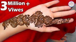 Front Hand Henna Mehndi Design : Diy beautiful arabic henna mehndi design tutorial for front hand