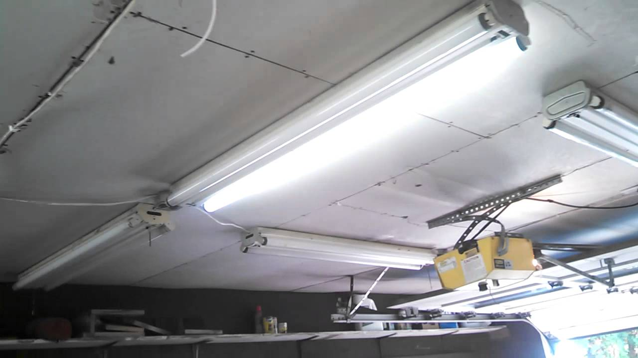 Installing antique louvered preheat fluorescent lights in ...