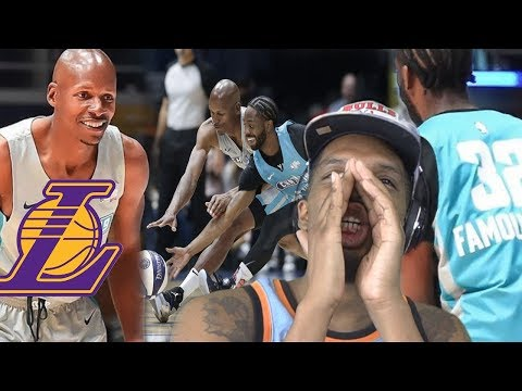 GET RAY ALLEN ON THE LAKERS! 2019 NBA CELEBRITY GAME HIGHLIGHTS