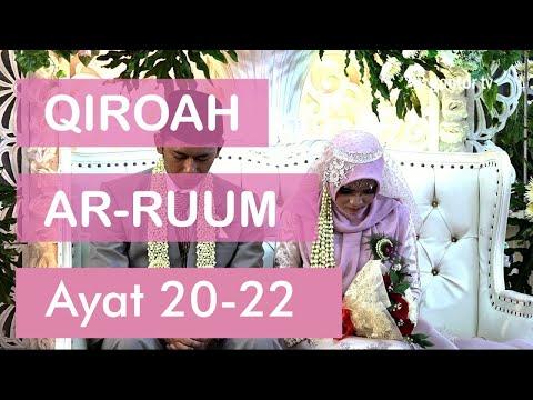 Menyentuh hati, Qiroah surat Ar-Ruum 21-22 pada Walimah Ustadzah Rossy dan Ustadz Fajar