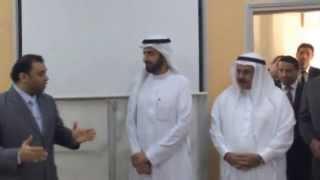 زيارة وزير التجارة السعودي توفيق الربيعة للمدرسة السعودية في الجزائر 3/12/2014