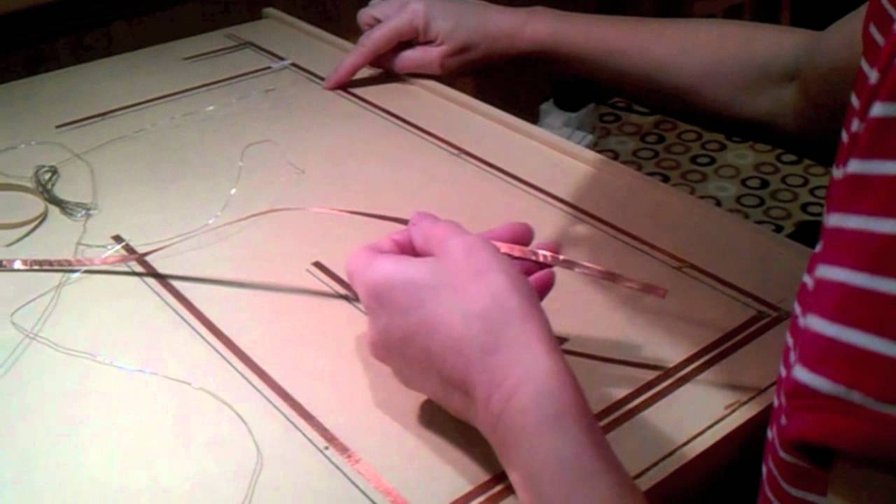 Dollhouse Wiring Tape Trusted Diagram Schematic Part 2 How To Fit Lights Using Copper Youtube Electrical Systems