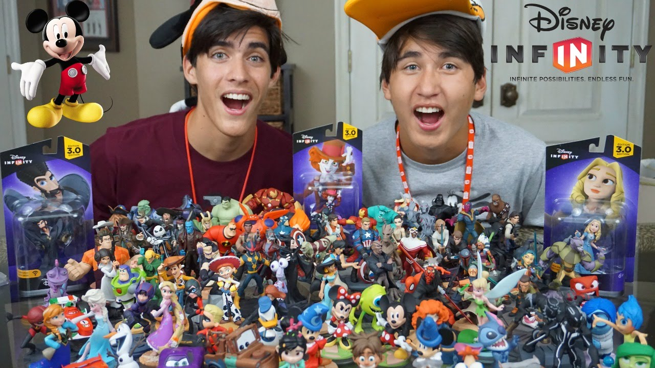 Biggest Disney Infinity Collection 1 0 2 0 3 0 Showcase Youtube