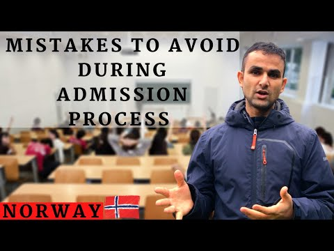 Mistakes to avoid while applying in Norwegian university | NORWAY UNIVERSITY | ENGLISH SUBTITLES