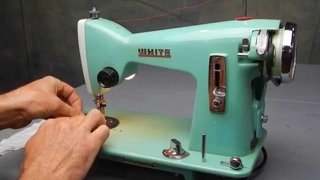 White Straight Stitch Sewing Machine - YouTube