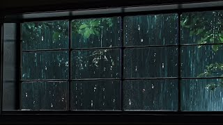 Rain On Window t๐ Sleep Instantly, Heavy Rainstorm & Thunder Sounds in Forest at Night for Sleeping