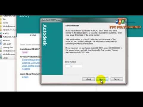 Hướng dẫn cài đặt phần mềm AutoCAD 2007