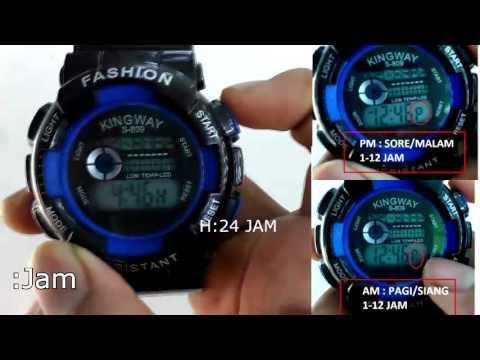 Tips Cara Mengatur Jam Tangan Digital - YouTube fbd34e839c