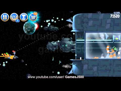 Angry Birds Star Wars 2- Level B3-20 Battle of Naboo Walkthrough 3 Sterne