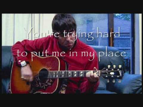 I hope I think I know, with lyrics - Oasis