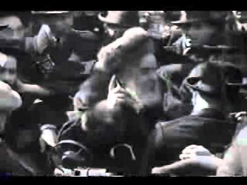 "Historical video of the Munkatcher Rebbe, zy""a, at a wedding"