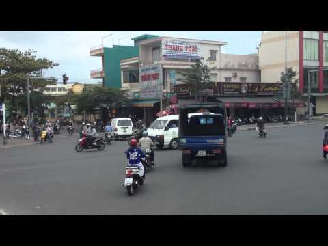Intersection without traffic lights in Hoi An North Vietnam
