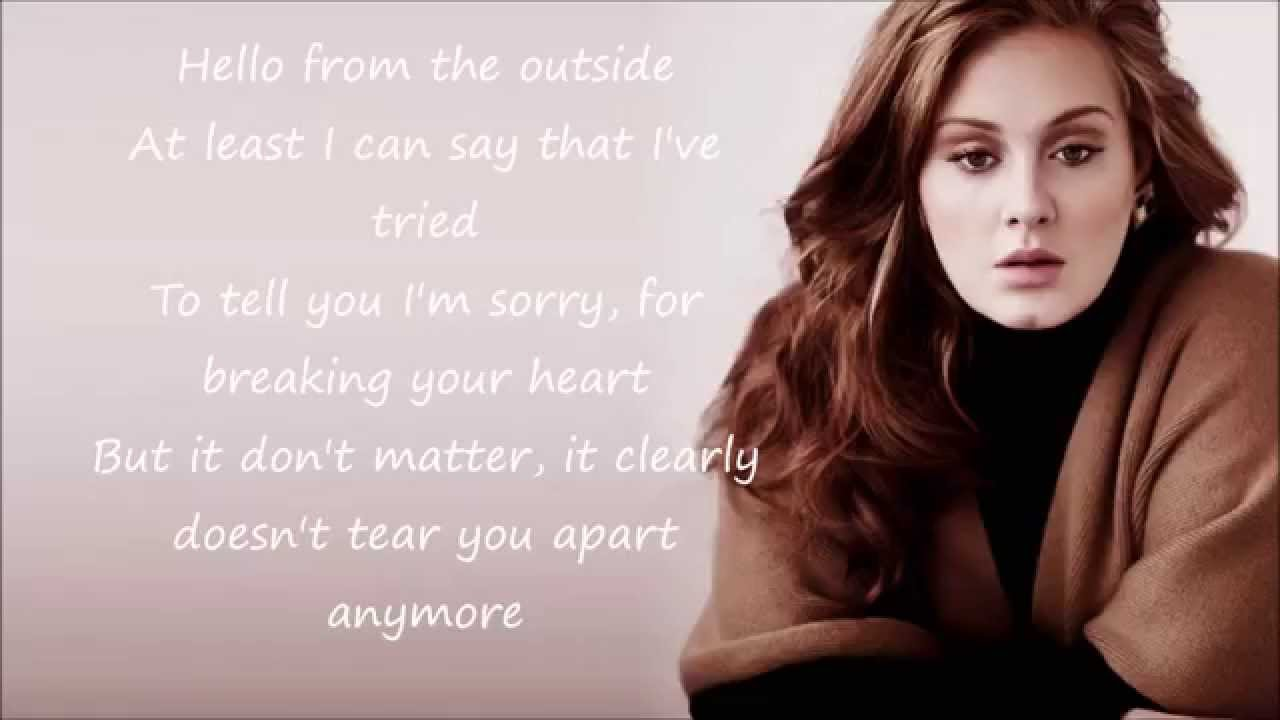 Adele (lyrics) HD