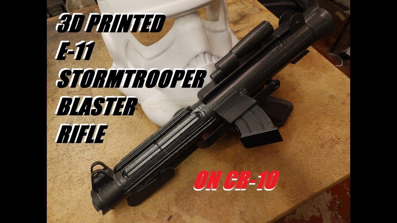 3D Printed E-11 StormTrooper Blaster Rifle (On CR-10)
