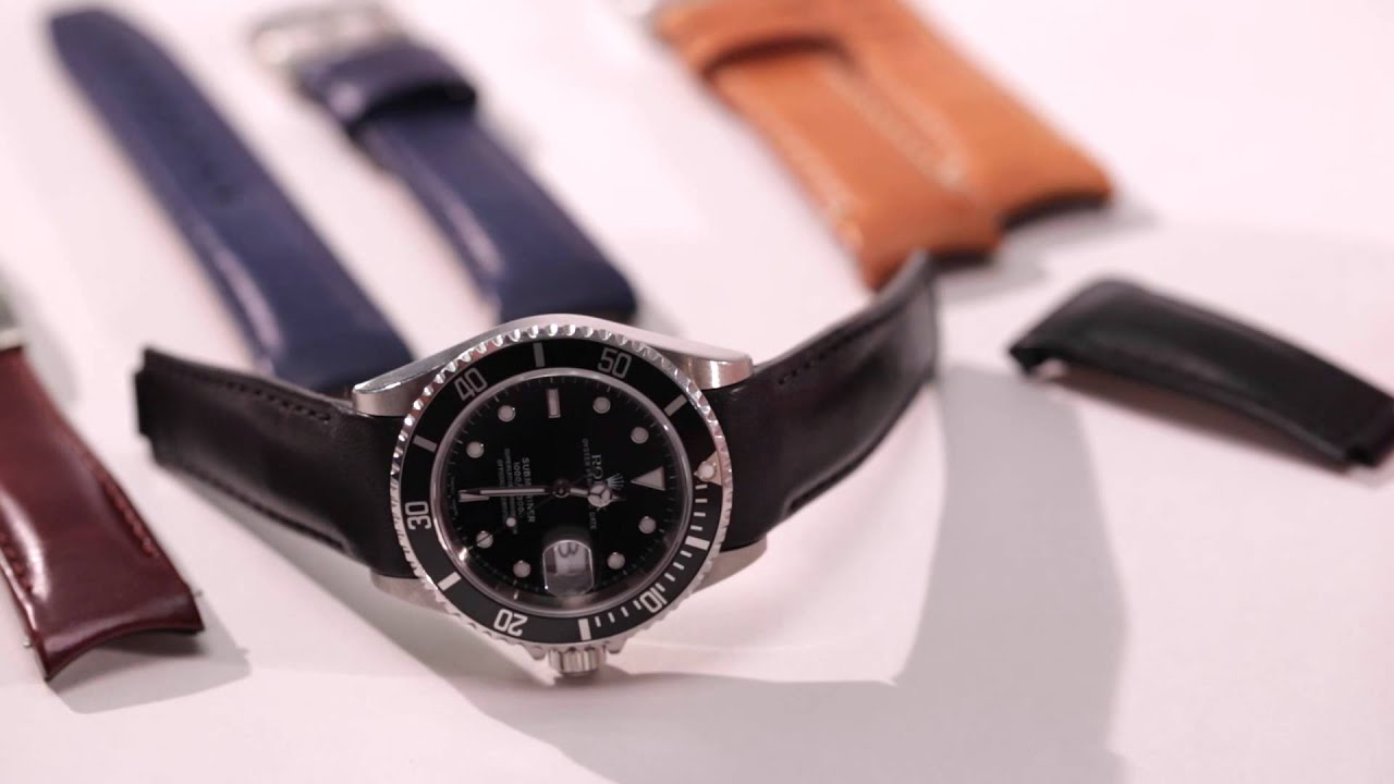 Everest Curved End Leather Strap