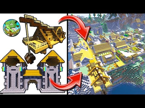 Add a GateHouse and Crane to a Minecraft Village /w WelsKnig