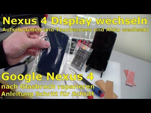Google Nexus 4 aufschrauben - Display und Akku wechseln