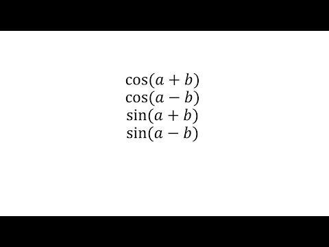 how to prove : cos(a+b) ; cosa(a-b) ; sin(a+b); sina(a-b)