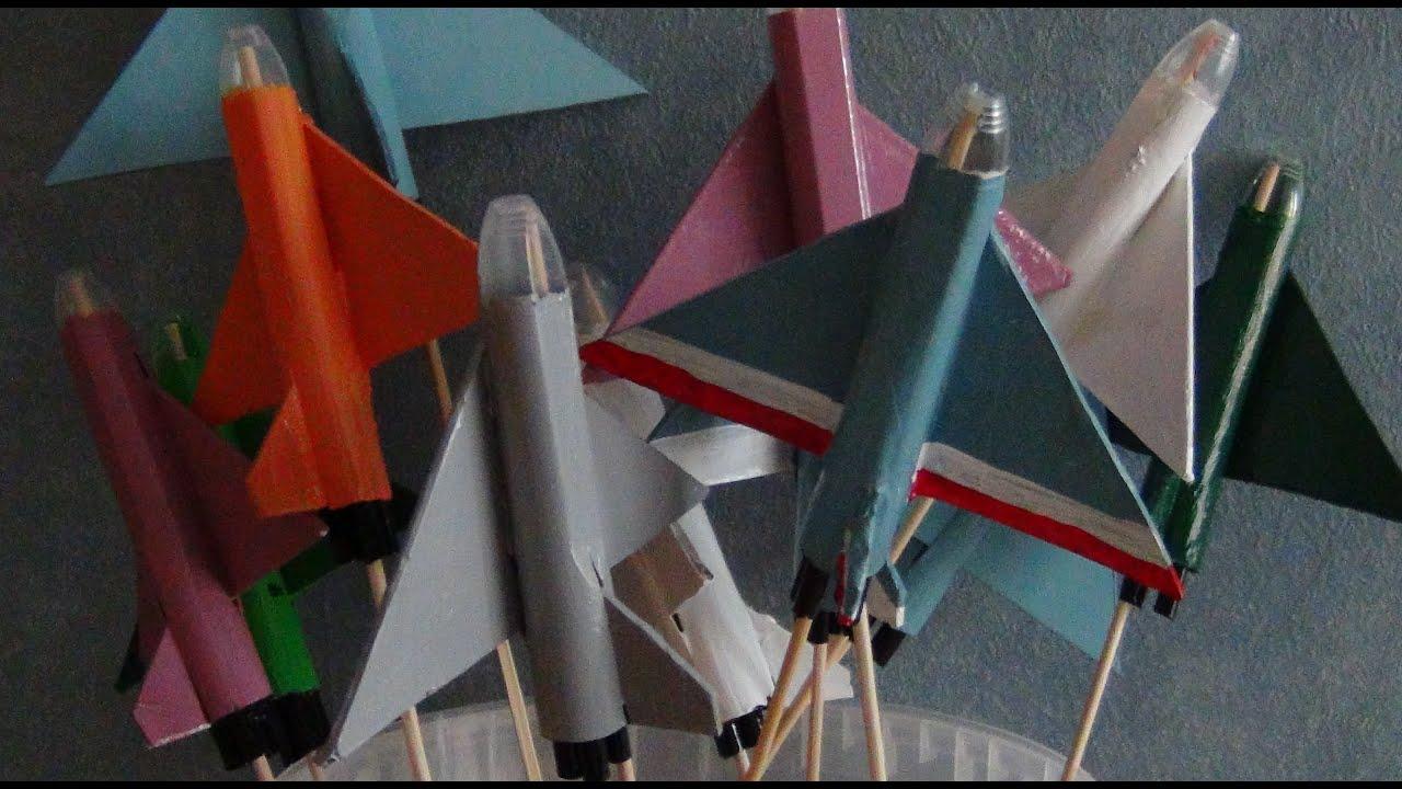 Avion de chasse bricolage pour enfant youtube - Bricolage simple pour enfant ...
