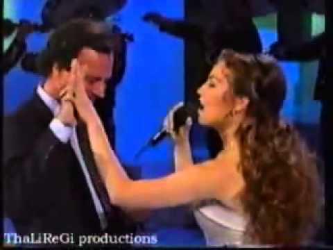 Thalía y Julio Iglesias Solamente Una Vez