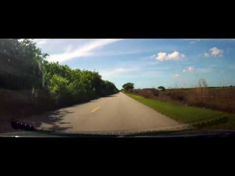 Driving in rural Miami-Dade County to Homestead Speedway - Florida