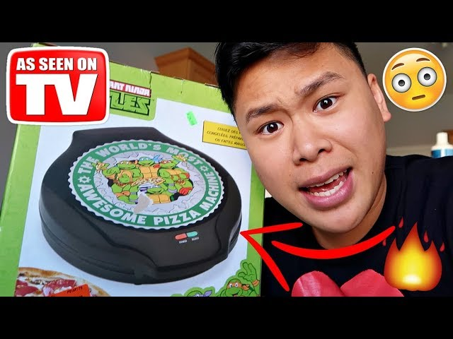 THIS INSTANTLY MAKES PERFECT PIZZA!!!!! (TESTING CRAZY GADGETS)