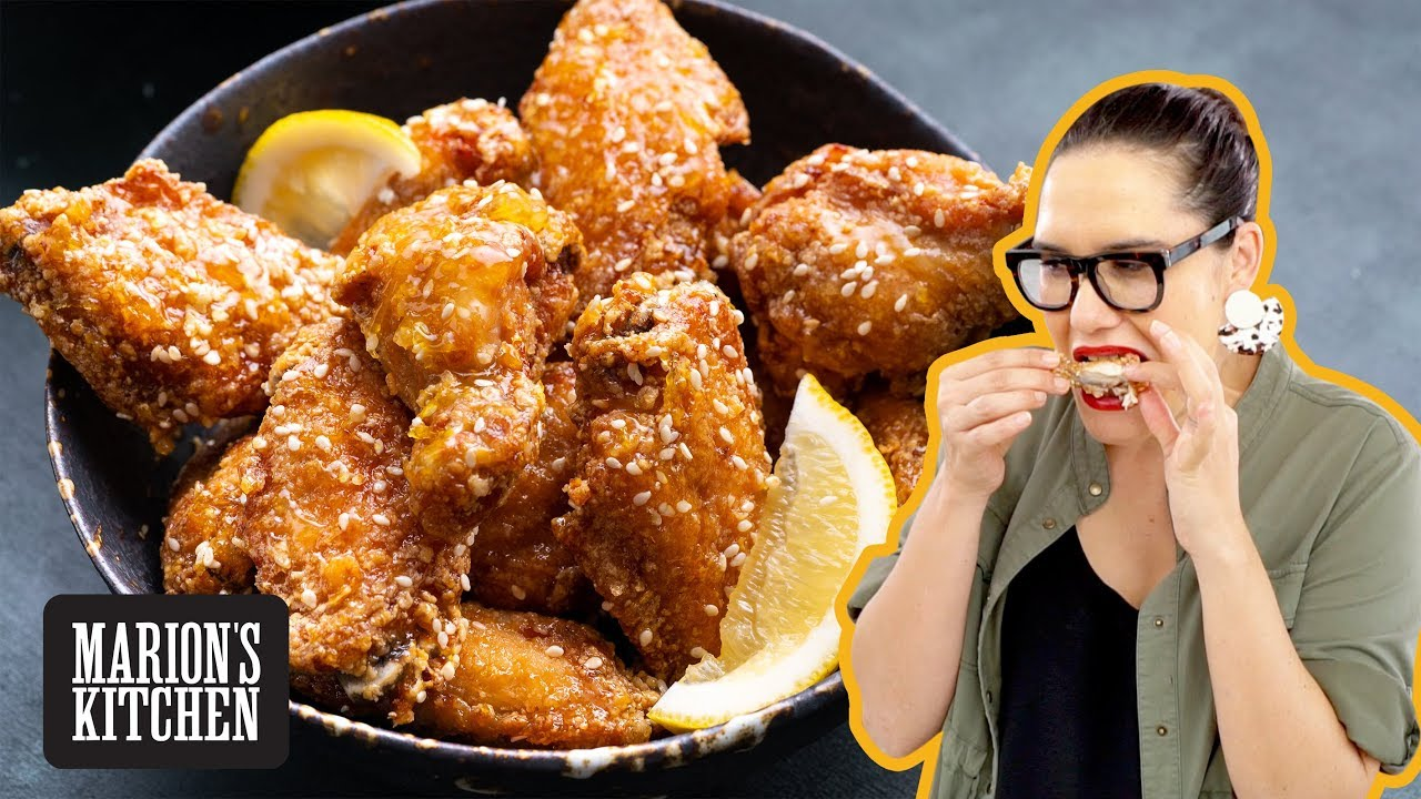My Impossible Wings Crispy And Sticky Honey Lemon Chicken Wings Marion S Kitchen Youtube