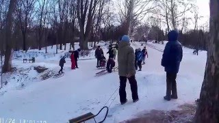 Долина роз Санки морозный чудесный день!!!24.02.2016 часть 2