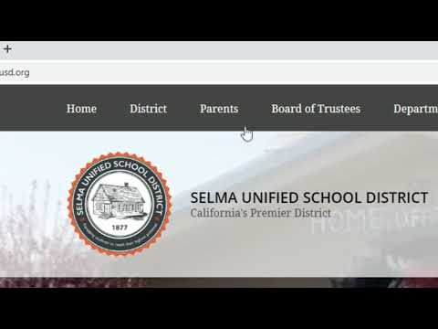 Selma Unified Aeries Parent Signup