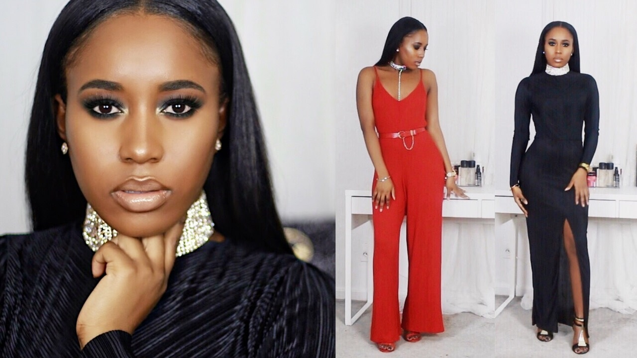 Grwm 6 Date Night Make Up  Outfit Ideas Black Women -6335