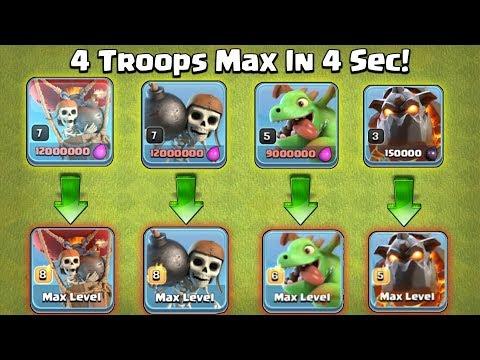 4 Troop Max In 4 Sec 😲 Insane Lab Upgrade