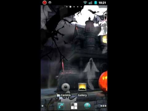 Halloween Haunted House Live Wallpaper Android Market - YouTube