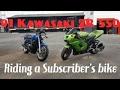 91 Kawasaki ZR 550 Test ride | Meeting a Subscriber!