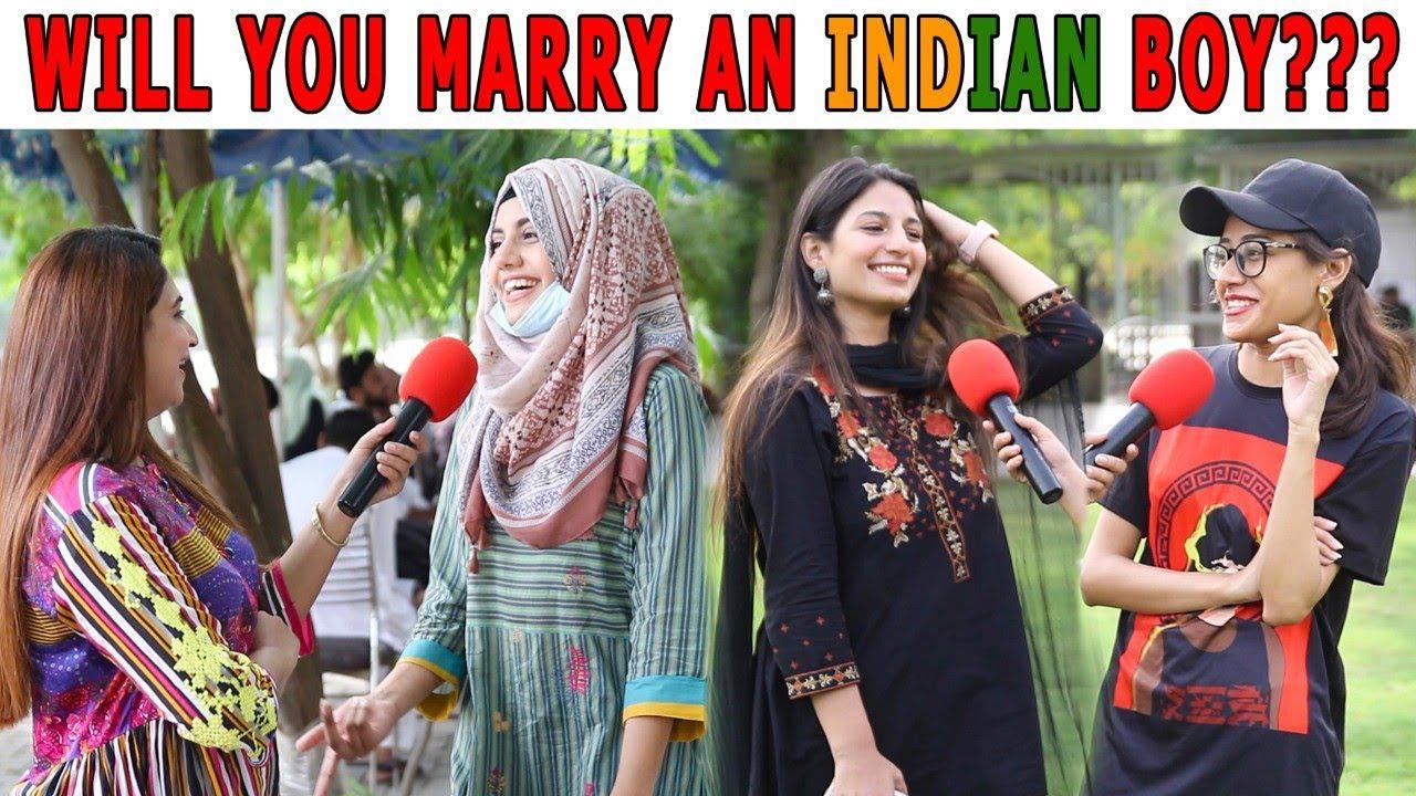 Will You Marry an INDIAN Boy?   Pakistani Girls Reaction   Sana Amjad