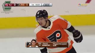 2a43a034b Travis Konecny Goal - Philadelphia Flyers vs New Jersey Devils 1 20 18