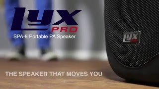 lyxpro spa 8 8 compact portable pa system 100 w