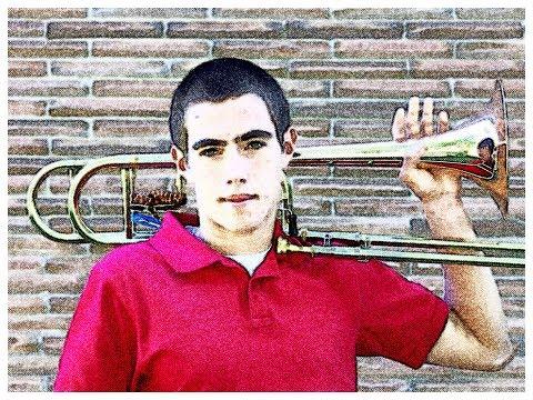 Caleb Landron performing with UNT Three O'Clock Lab Band