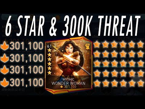 6 STAR 300K THREAT MYTHIC WONDER WOMAN!! GROWTH/GEAR BOOSTER PACK! NEW UPDATE 2.2 INJUSTICE 2 MOBILE