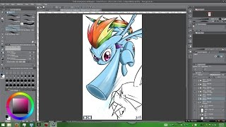 [mlp] Speedpaint - Rainbow Punch