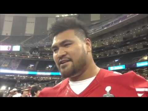Mike Iupati of the 49ers talks the Super Bowl - 2013-01-30