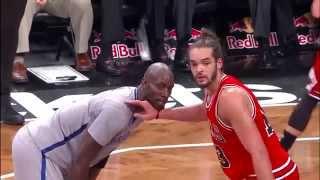 Kevin Garnett cerca di mordere Joakim Noah! (Bulls vs Nets) - 30 novembre 2014