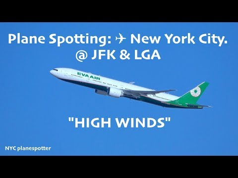 "Plane Spotting: ✈ New York City.  ""HIGH WINDS"" (4K)"