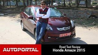 2015 Honda Amaze Test Drive Review - Autoportal