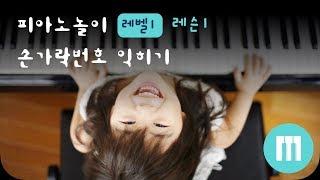 [피아노] 피아노 놀이 - 레슨 1: 손가락 번호 익히기